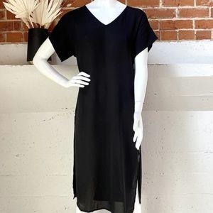 Babaton Jessie Dress Black XXSmall Sheer Vnec